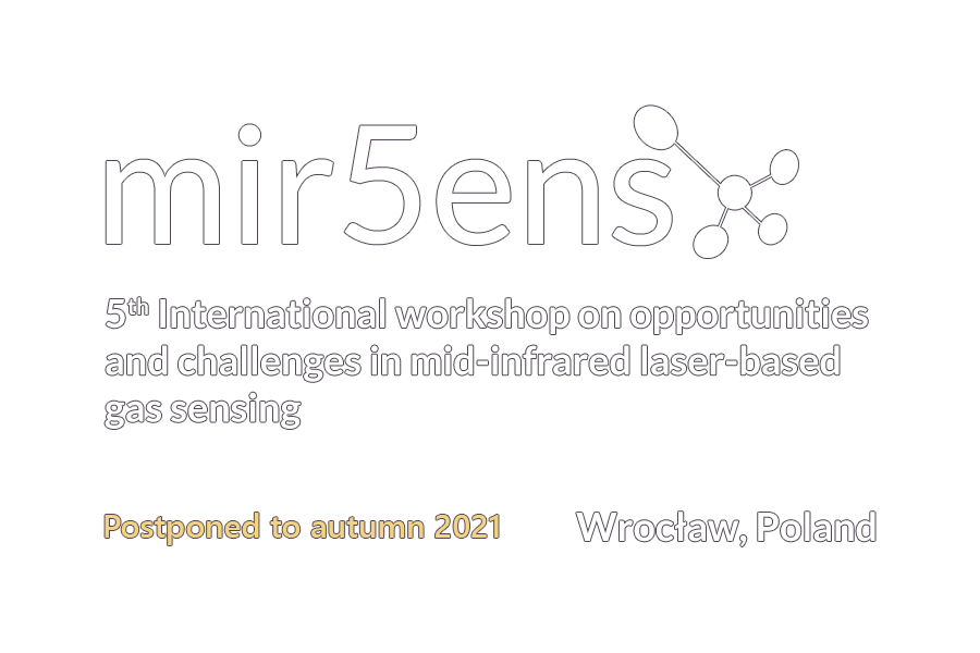 5th International workshop on opportunities and challenges in mid-infrared laser-based gas sensing logo
